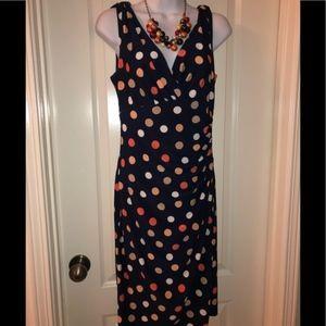 American Living- Colorful Polka Dot dress